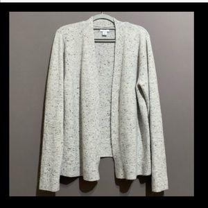 NWT Soft Grey Speckle Cardigan